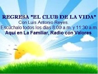 REGRESA EL CLUB DE LA VIDA